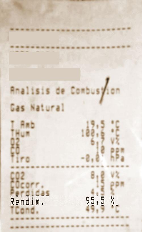 Rendimiento de la combustión en el certificado energético